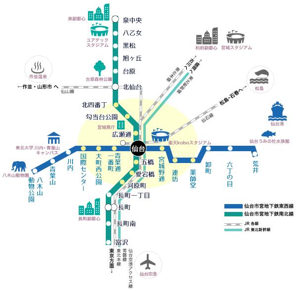 仙台地下鉄路線図