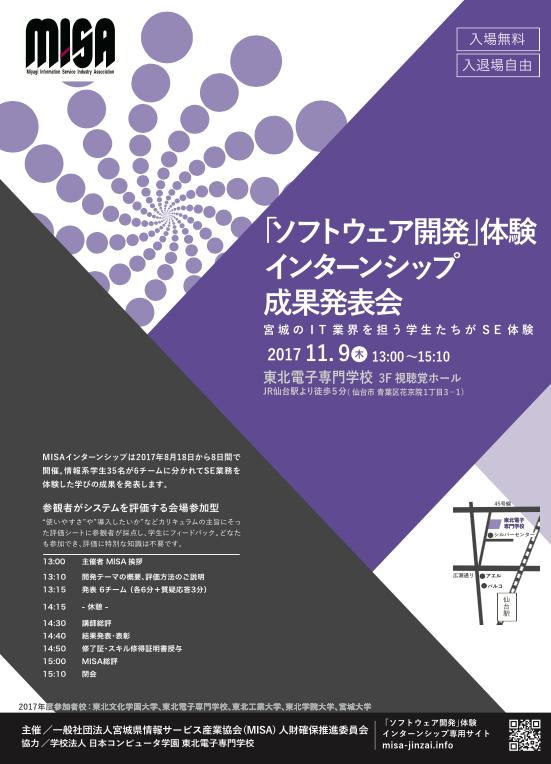 MISA「ソフトウェア開発」体験インターンシップ成果発表会